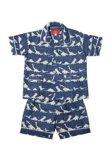 Dinosaur Blue Short Pyjamas