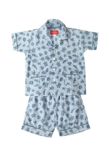 Ocean Blue Short Pyjama