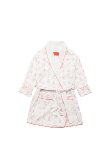 Skiing Pink Dressing Gown
