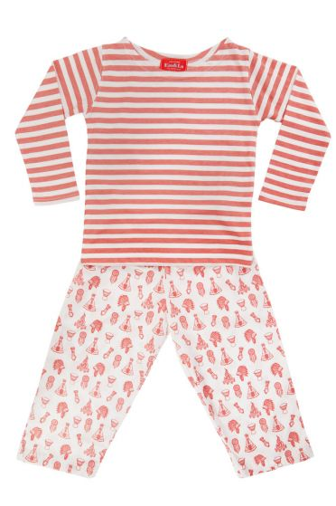 Dreamcatcher Red Striped T-Shirt Pyjama