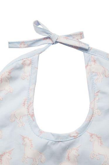 Unicorn Bib Tie Detail
