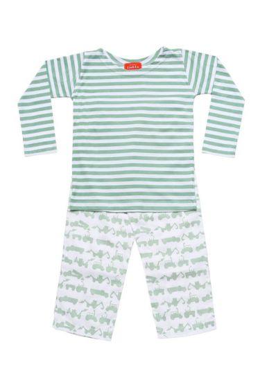 Tractor Green Striped T-Shirt Pyjama