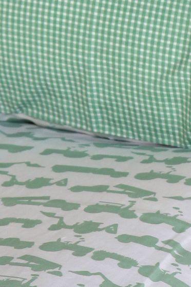 Tractor Green Duvet Cover