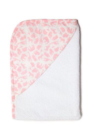 Safari Pink Hooded Towel