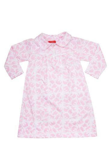 Safari Pink Long Sleeve Nightie