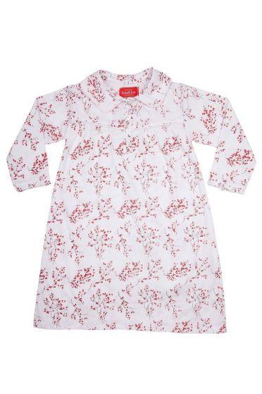Red Blossom Long Sleeve Nightie