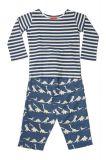 Dinosaur Blue Striped T-Shirt Pyjama