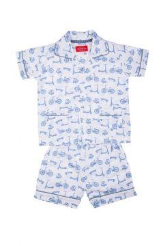 Bicycle Blue Short Pyjamas