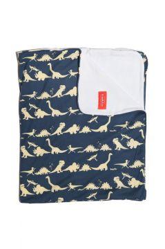 Dinosaur Blue Towelling Blanket