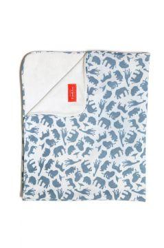 Safari Blue Towelling Blanket