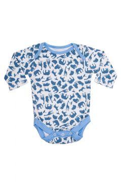 Safari Blue Baby Vest