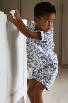 Safari Blue Short Pyjamas