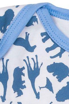Safari Blue Sleeveless Baby Vest Neck Detail