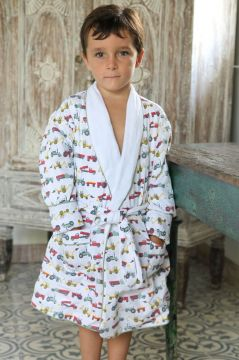 Tractor Colour Dressing Gown