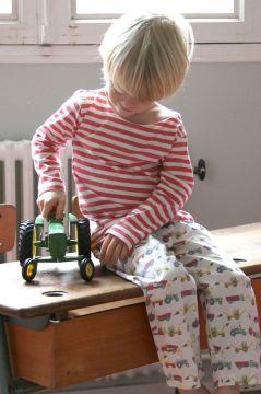 Tractor Colour Striped T-Shirt Pyjama