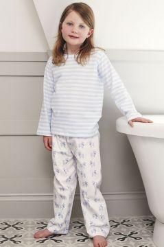 Dog Blue Striped T-Shirt Pyjama