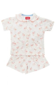 Flamingo Cotton Short Set