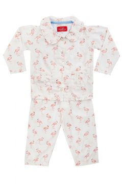 Em&Lu Pink Flamingo Frill Pyjama