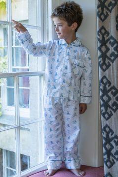 Skiing Blue Classic Pyjama