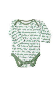 Tractor Green Baby Vest