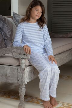 Bicycle Lilac Striped T Shirt Pyjamas