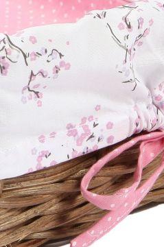 Lilac Blossom Wicker Tray