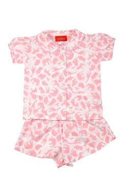 Safari Pink Short Pyjamas