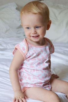 Safari Pink Sleeveless Baby Vest