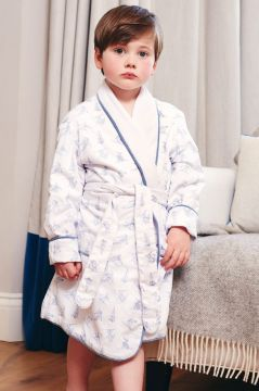 Skiing Blue Dressing Gown